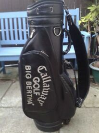 *** RARELY AVAILABLE - BEAUTIFUL / CALLAWAY / BIG BERTH GOLF CART / TROLLEY / CARRY GOLF BAG ***