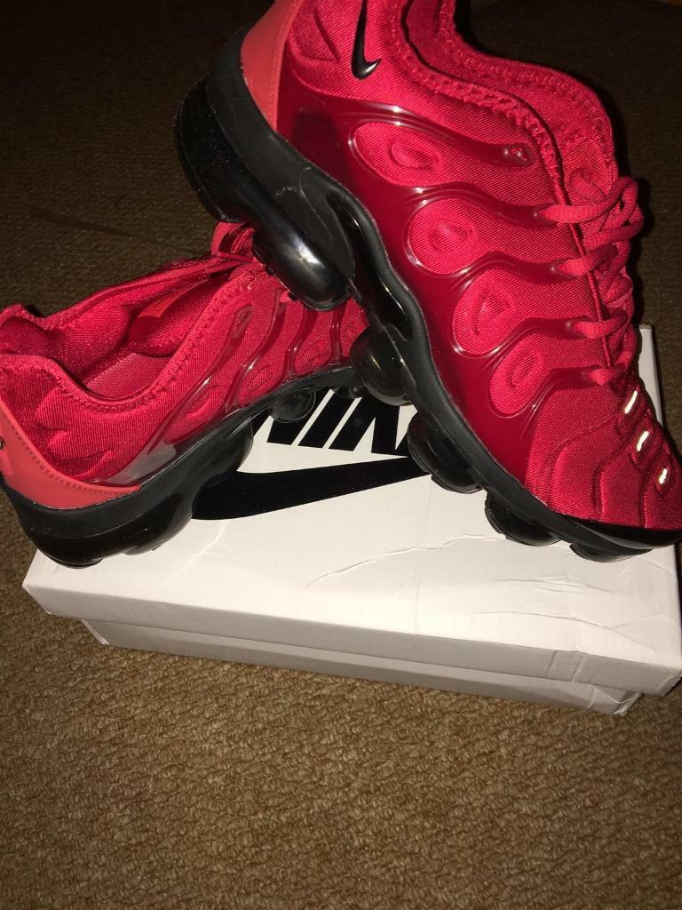 big sale 30bc3 87b16 SIZE 9 BRAND NEW NIKE VAPORMAX PLUS BOXED TRAINERS RED (NOT) tn 270 95 97  AIR flyknit run utility | in Erdington, West Midlands | Gumtree
