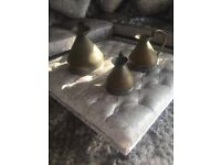 Vintage style shabby chic copper jugs set of 3