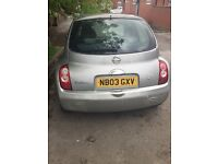 Nissan micra 03 fully working ...offers for a part xchange vehicle!!
