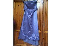 Dark lilac bridesmaid dress