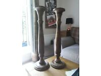 Matching Solid wood candelabra