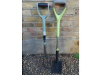 Stainless Digging Fork and Digging Spade