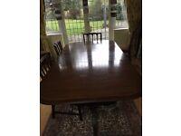 Dining table, mahogany