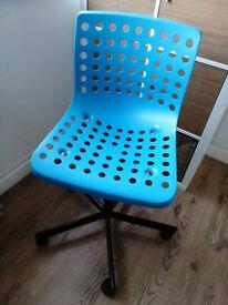 IKEA SKALBERG/ SPORREN - Swivel chair, blue, black