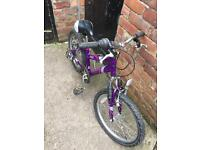"Kids bike 20"" inch wheels full suspension purple bike"