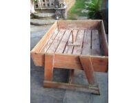 Large wooden sandpit