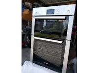 Bosch built in double oven and grill brushed steel HBM13B251B