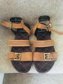 Barbour canvas ladies sandals - size 5