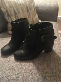 Black ankle boots- size 5- M&S- worn twice