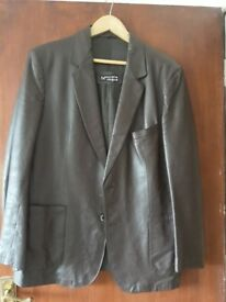 Mens Leather Coat size 42 by 'Nouvelle Vogue' Dark Brown