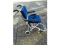 WHEELCHAIR - Lightweight, Compact, Folding, used very little: fits into convenient carrying case
