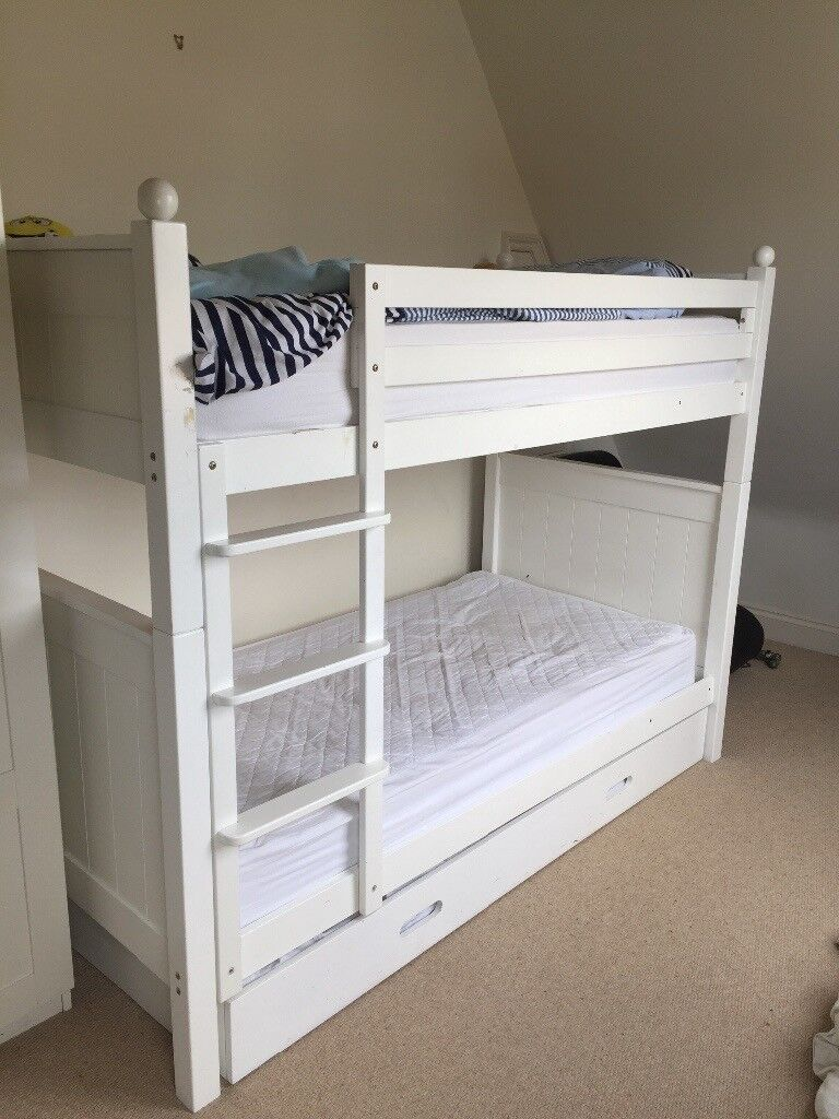 Aspace White Bunk Bed With Trundle 150 00 In Clapham Common