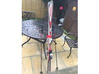 Skis with Bindings Boots and Poles