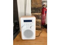 Radio - DAB/FM white and wood Tesco in box barely used