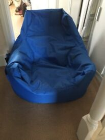 Bean bag chair with side pockets for remotes etc
