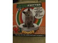 Litter Kwitter cat toilet training. BNIB