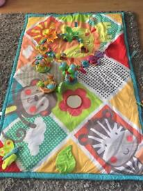 Baby playmat and toys