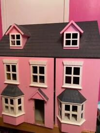 Girls wooden doll house