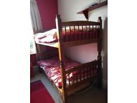 Solid wood bunks: robust and well made full size single beds in need of some tlc