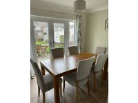 6ft Oak Dining table & chairs. Over £900 RRP