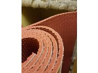 11m^2 roll of Tredaire Colours Red carpet underlay