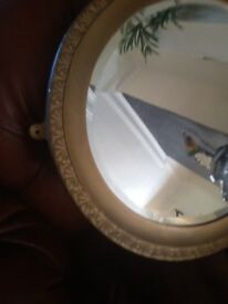 Vitage gold oval Mirror