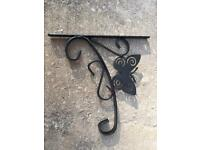 Butterfly hanging basket brackets