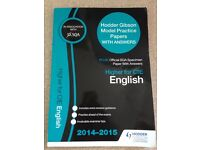 SQA Higher for CfE English Model Practice Papers Textbook