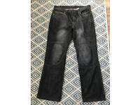 Men's Kevlar Oxford padded motorcycle jeans