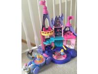 Princess castle with carriage fisher price