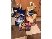 Cat litter and cat food