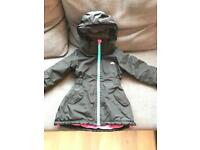Girls trespass waterproof coat 3-4 year