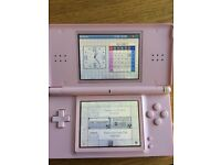 Nintendo DS Lite with case, charger, Health Coach Game& Activity Meter along with a Star Wars game
