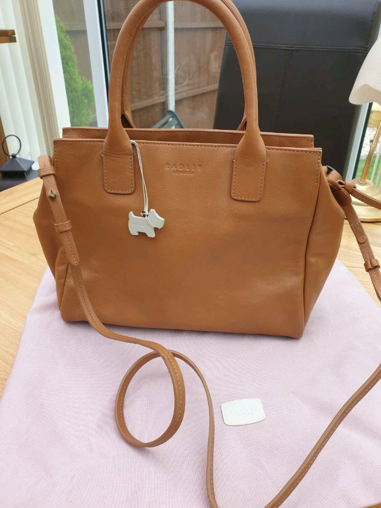 64a8c39257f Radley Leather Grab Bag Portland Place medium zipped top in Tan 63035EX |  in Coventry, West Midlands | Gumtree