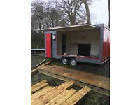 Ex Fire Service display box trailer cleared ready to be made into a food trailer