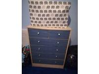 Blue childrens drawers, 4+2