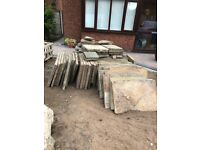 Free Paving flag stones. Collect only.