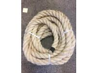 40mm natural sisal decking rope x 11.6m, garden fitness decking project rope