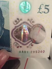 AA01 five pound note
