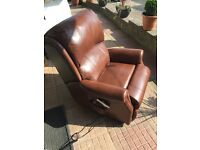 HSL riser / recliner leather chair for sale