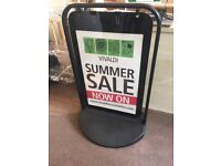 Swing display sign