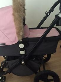 Bugaboo 2nd generation with cam 3 soft pink hood