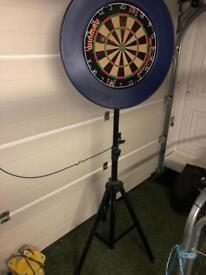 Portable Darts Stand, board surround and oche mat