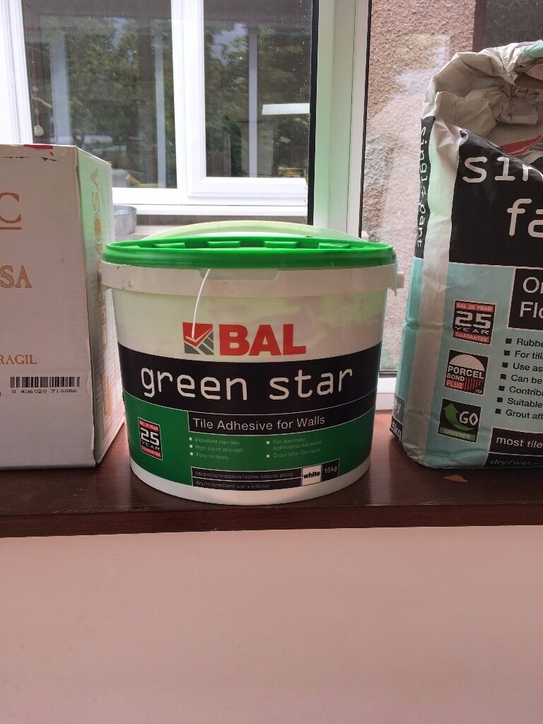 Bal floor tile adhesive image collections tile flooring design ideas bal green star wall tile adhesive 15kg and single part fastflex bal green star wall tile dailygadgetfo Images