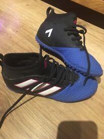 Boys Adidas Ace Astro turf boots size 1
