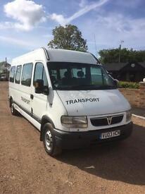 Vauxhall Movano mini bus 2.5dti 2003 03 Reg