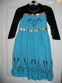 Disney Frozen Elsa Coronation (black) fancy dress costume for 7-8 years. Excellent condition. Cotton