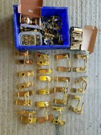 Brass door handles and hinges