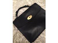 Black, genuine leather briefcase/attaché case/man bag
